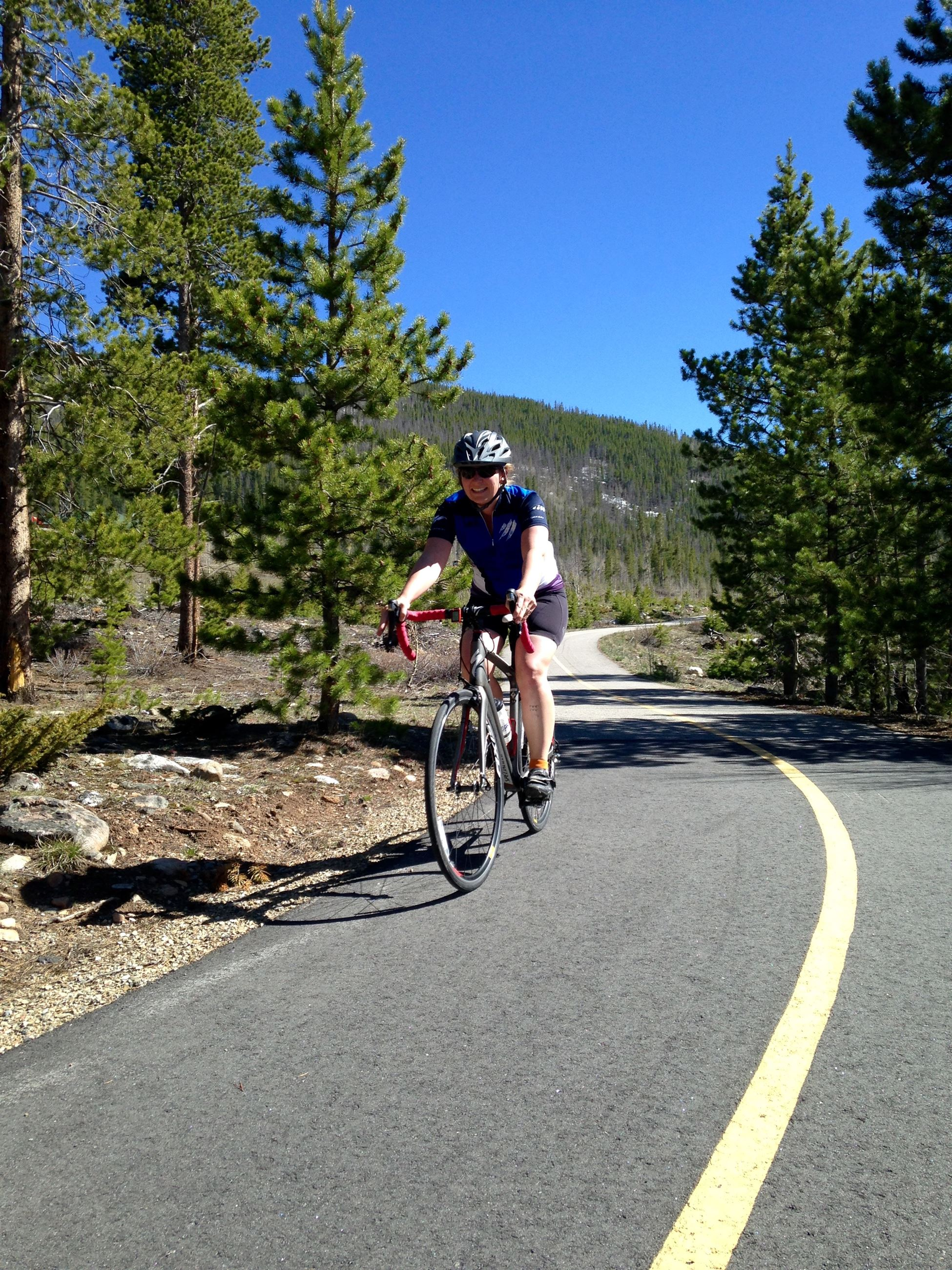 Photo of a cyclist on the Recpath