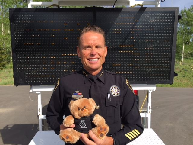 Sheriff Jaime FitzSimons invites children to help name speed trailer