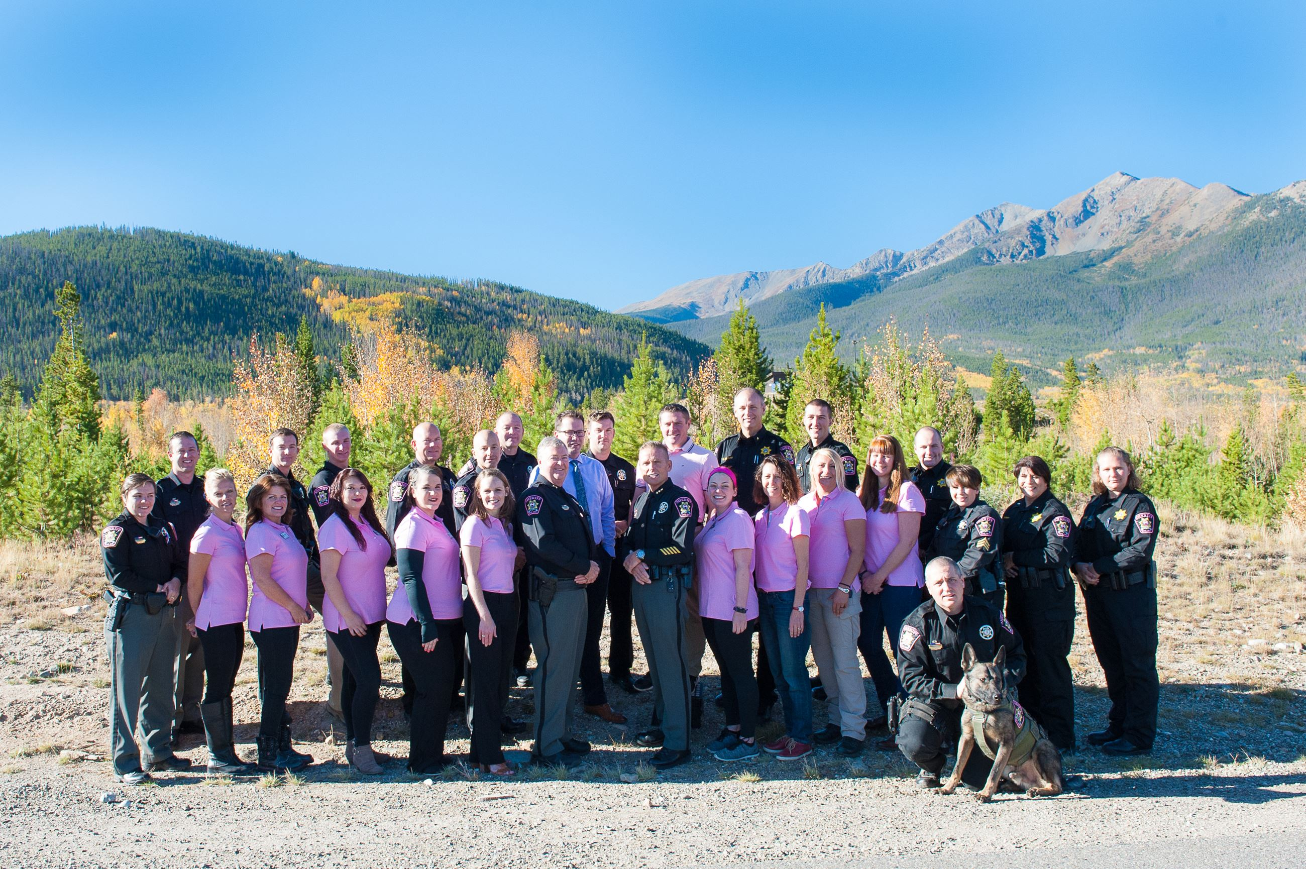 Summit County Sheriff Deputies Wear Pink Patches on Uniforms