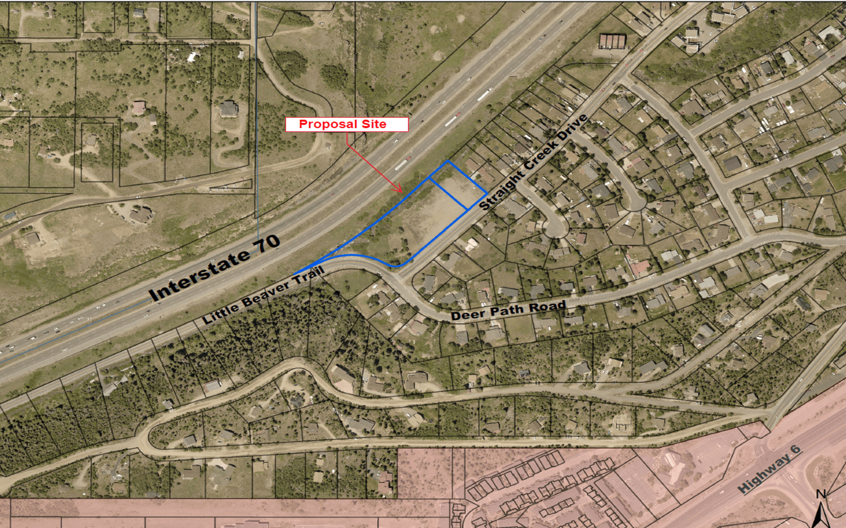 The site is located at the intersection of Deer Path Road and Straight Creek Drive.