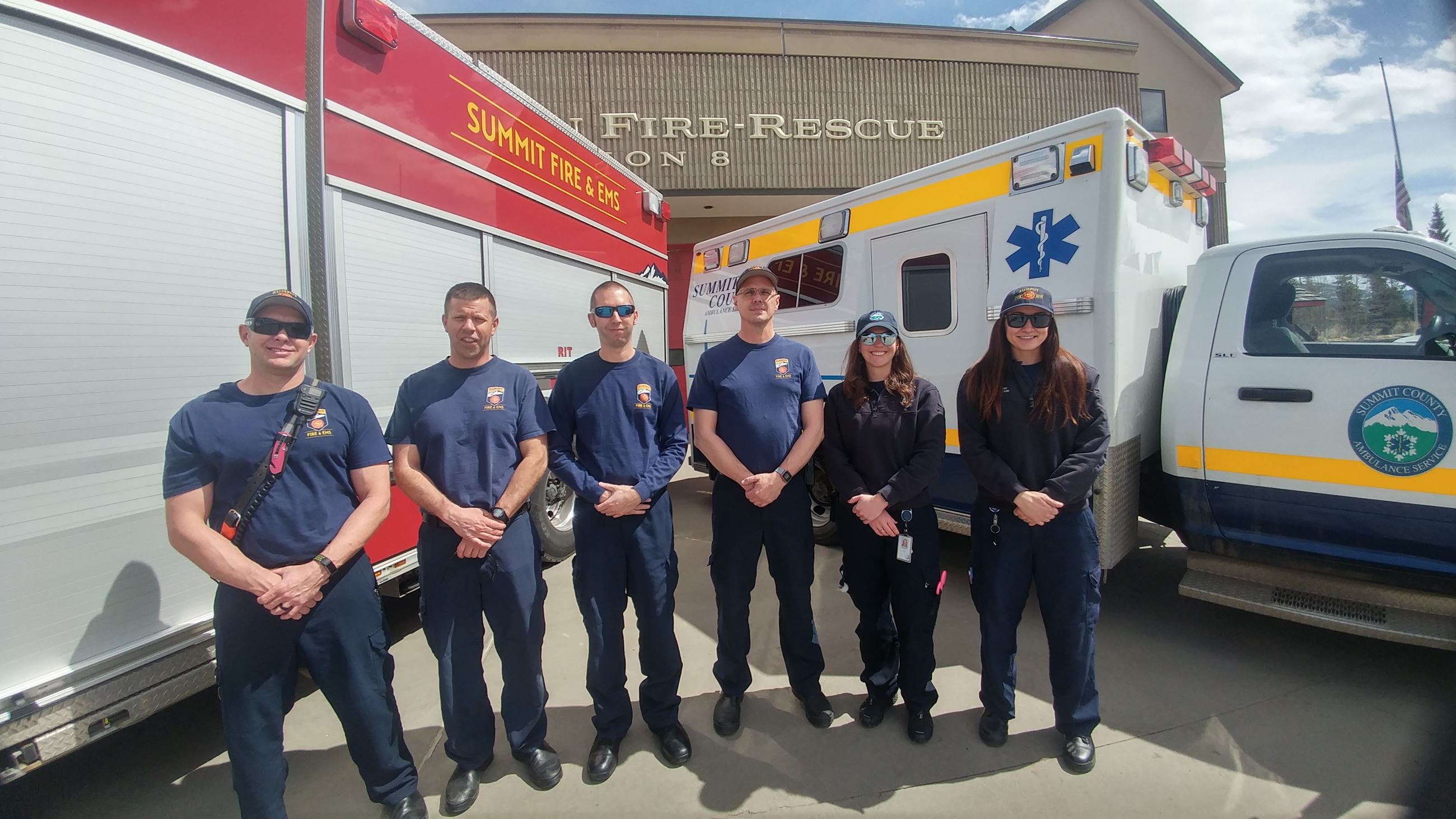 Summit Fire & EMS firefighters and Summit County Ambulance Service paramedics at the shared Station