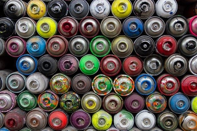 Image of Used Spray Paint Cans