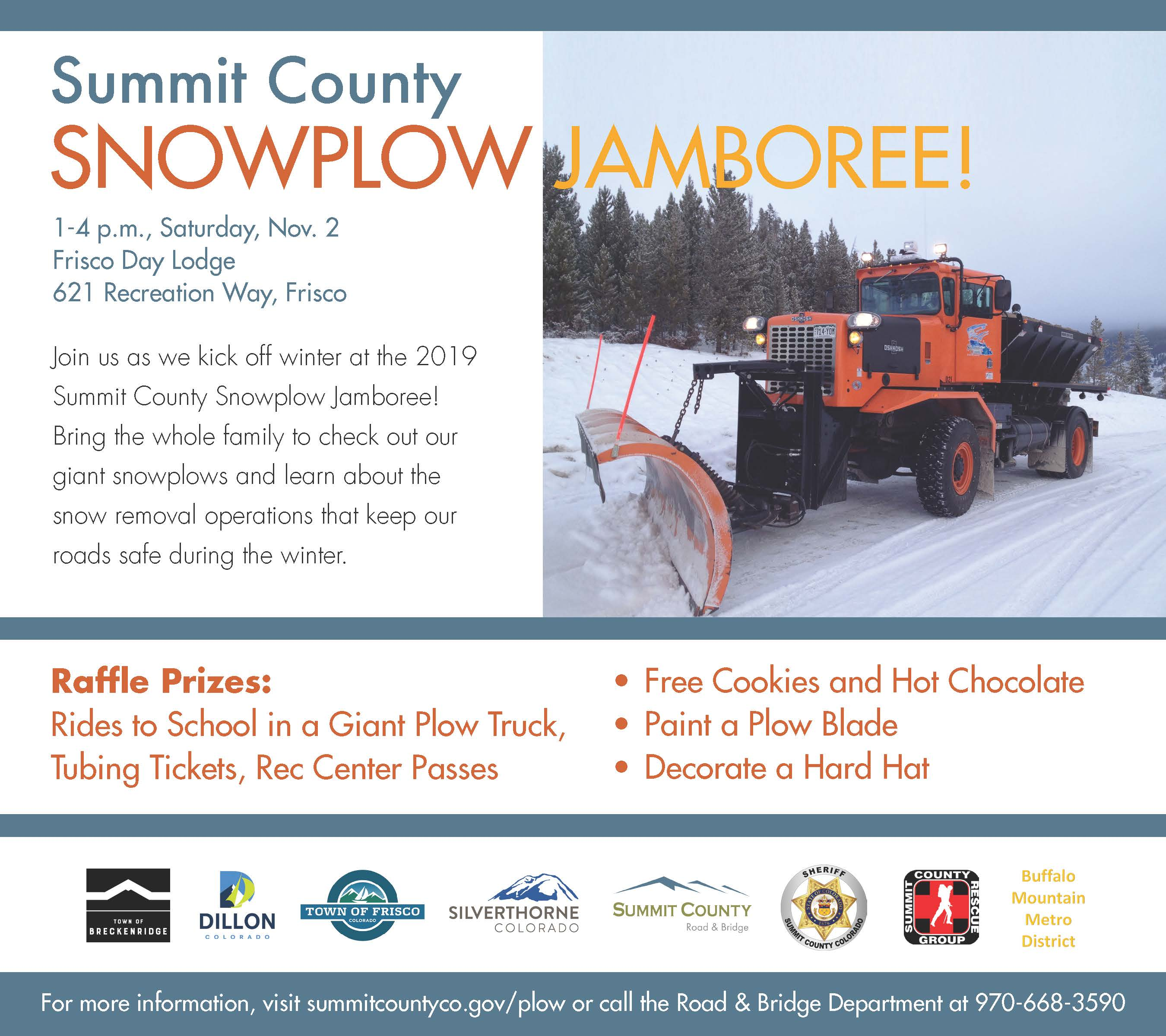 Come to the Snowplow Jamboree November 2.